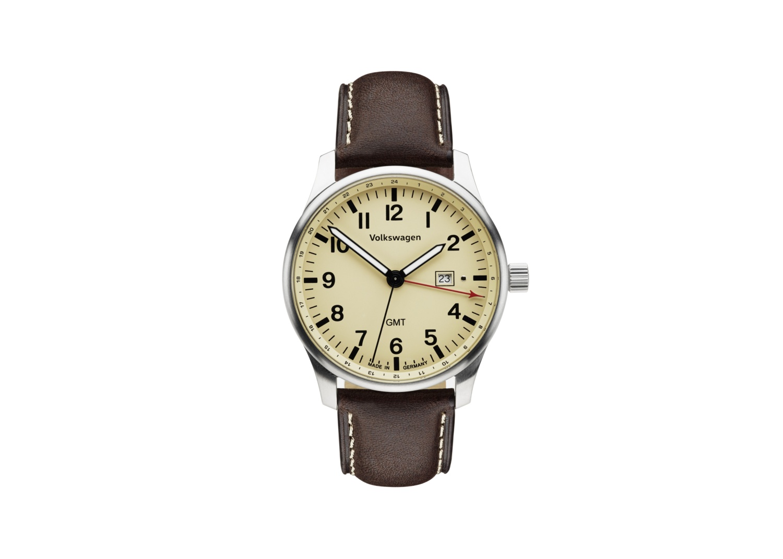 Reloj de pulsera para caballero, dos zonas horarias
