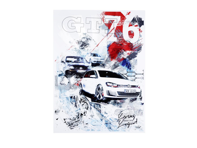 """Lámina """"40 años de GTI: Elementos de diseño"""""""