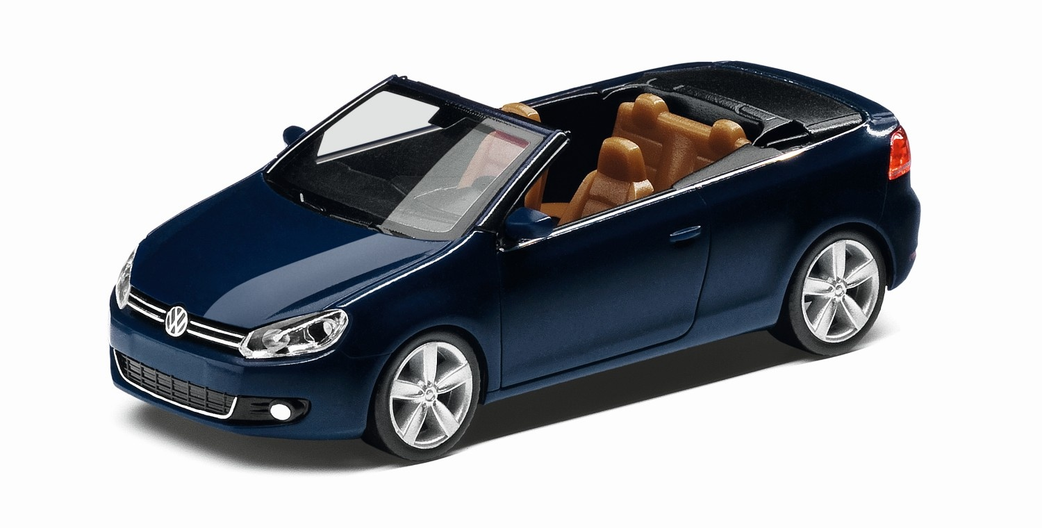 Golf VI Cabrio night blue, escala 1:87