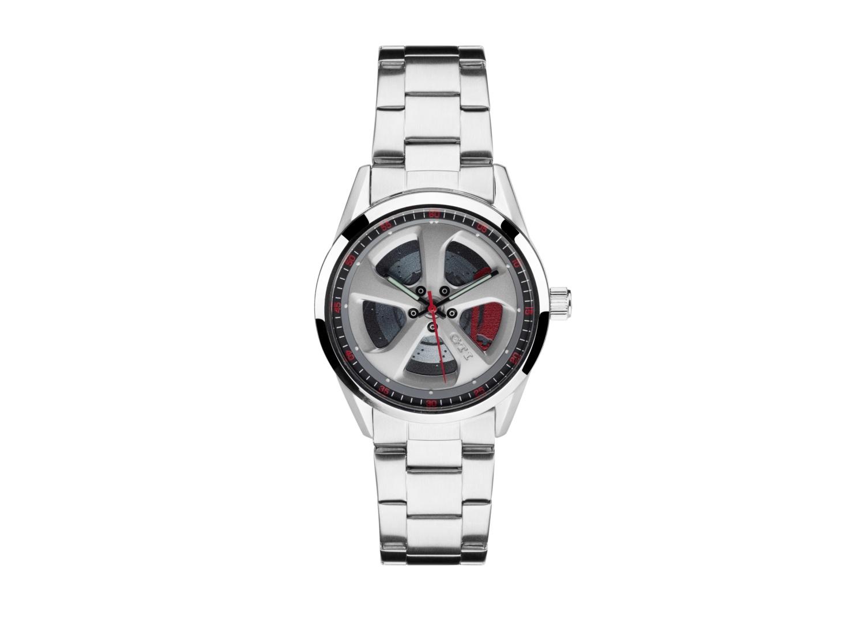 Reloj unisex de pulsera de acero fino, Colección GTI