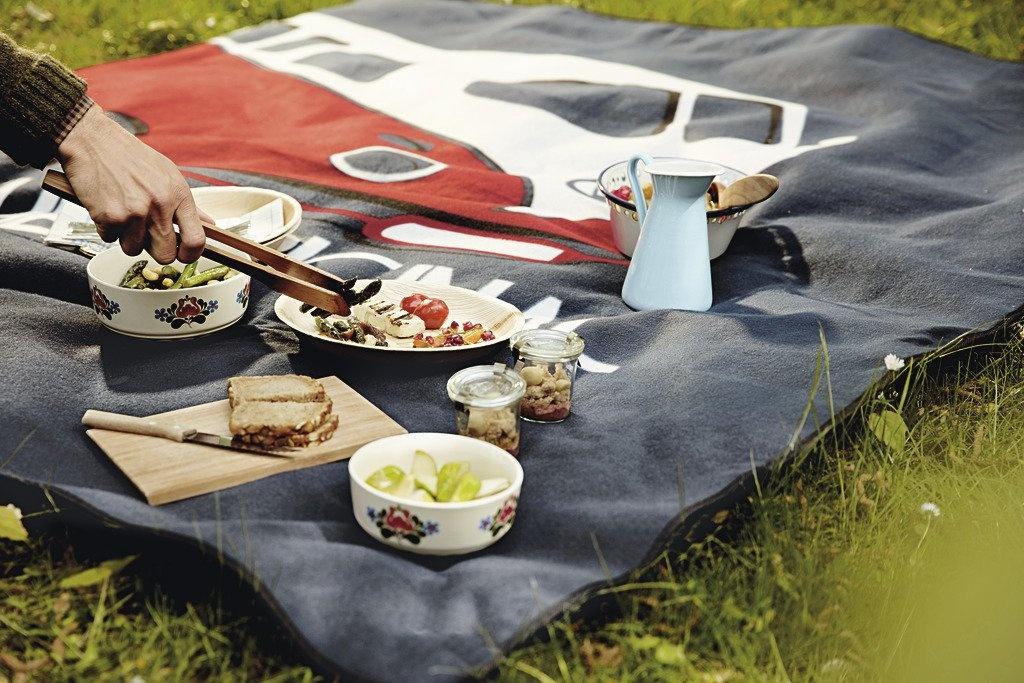 Mantel de picnic Estampado con motivo T1, azul. - Ítem2