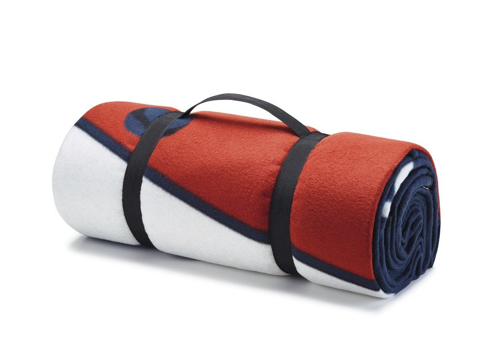 Mantel de picnic Estampado con motivo T1, azul. - Ítem1
