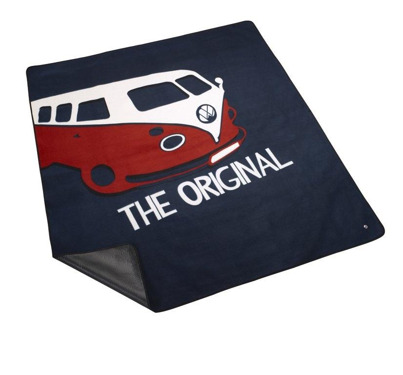 Mantel de picnic Estampado con motivo T1, azul.