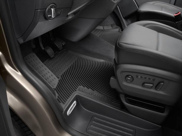 Ajuste tapices para VW Transporter t5 t6 2004-2020 2-piezas alfombrillas de goma