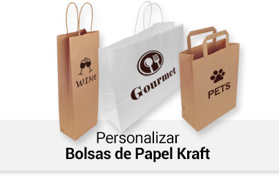 Personalizar Bolsas de Papel Kraft
