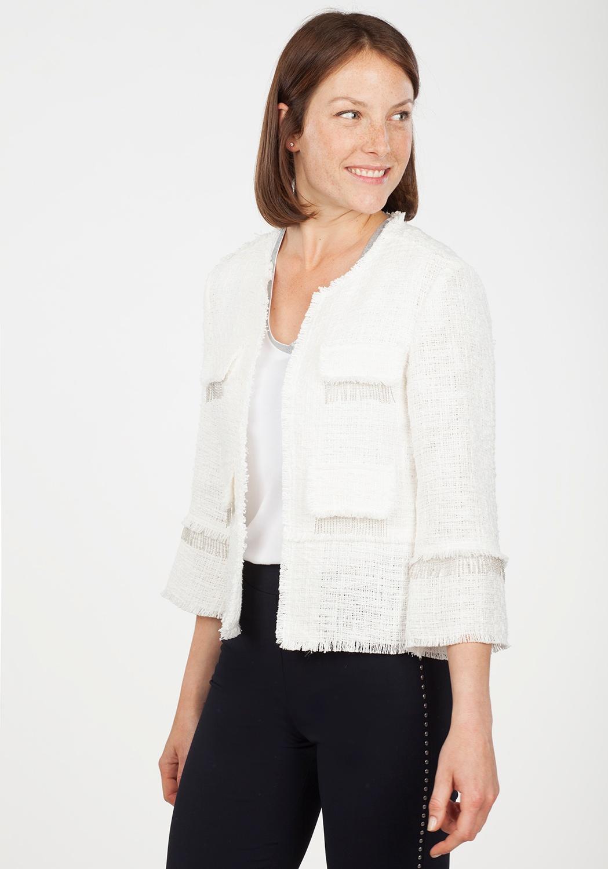 Chaqueta Tweed Blanca