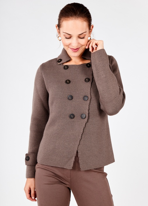Chaqueta Tricot Taupe