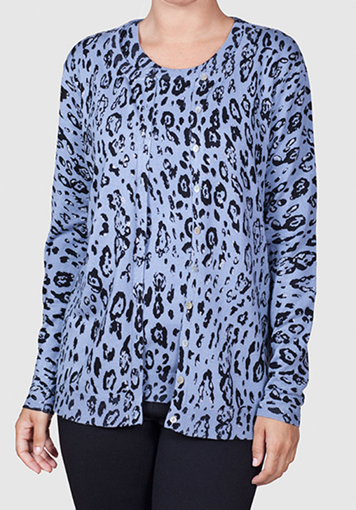 Twin-set animal-print Azul