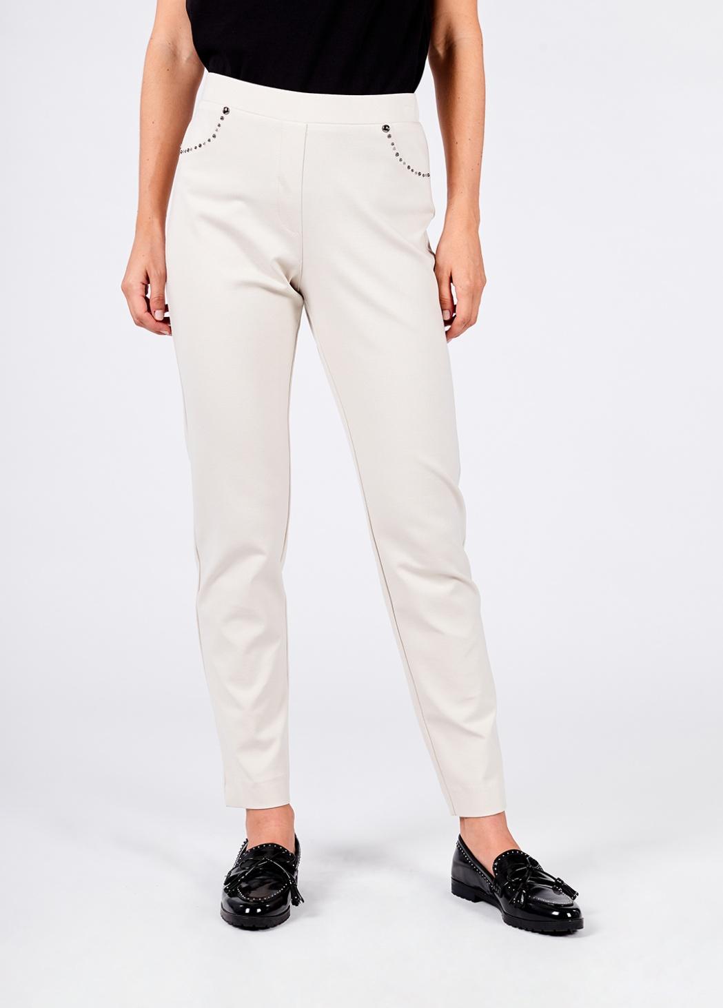 Pantalón Blanco Tachas