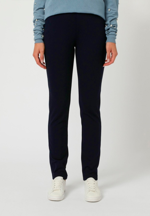 Elastic Embossed Drawing Trousers