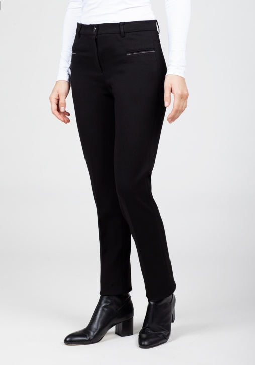 Black Elastic Trousers