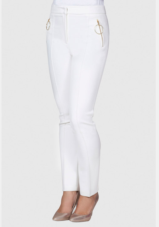 Pantalón cremallera blanco