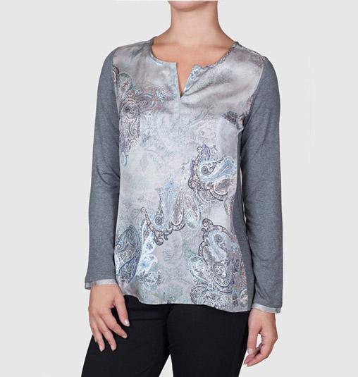 Camiseta estampado gris