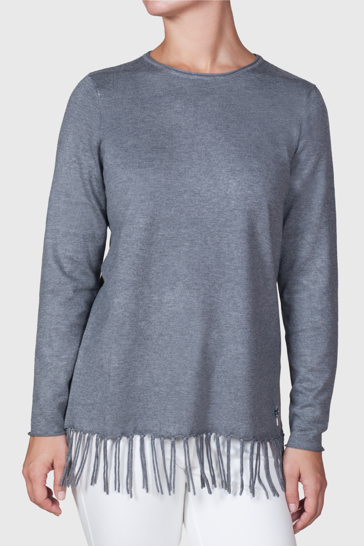 Jersey flecos gris