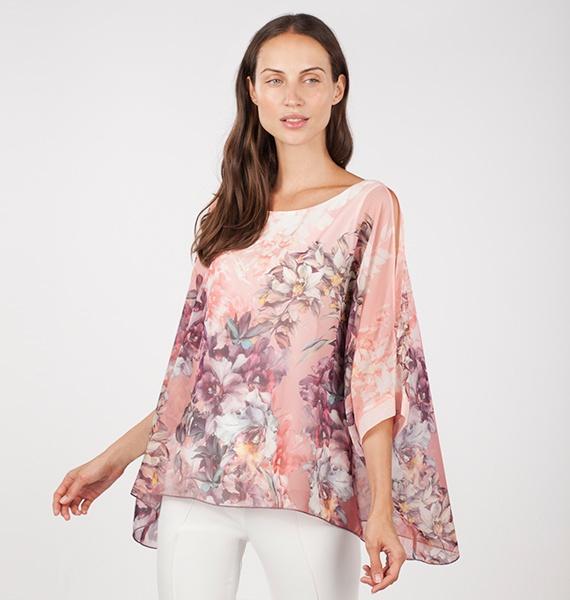 Blusón floral rosa