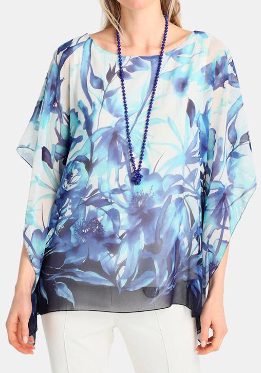 bluson floral azul