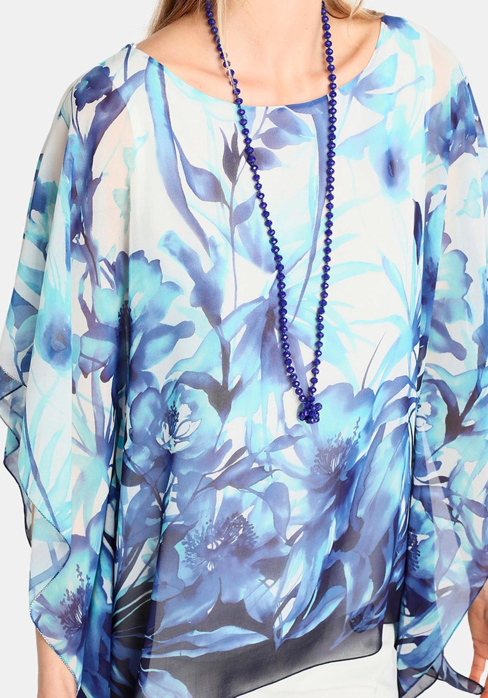 Blusón Floral azul