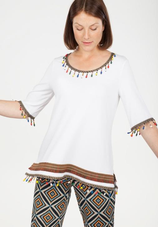 Camiseta Étnica Blanca
