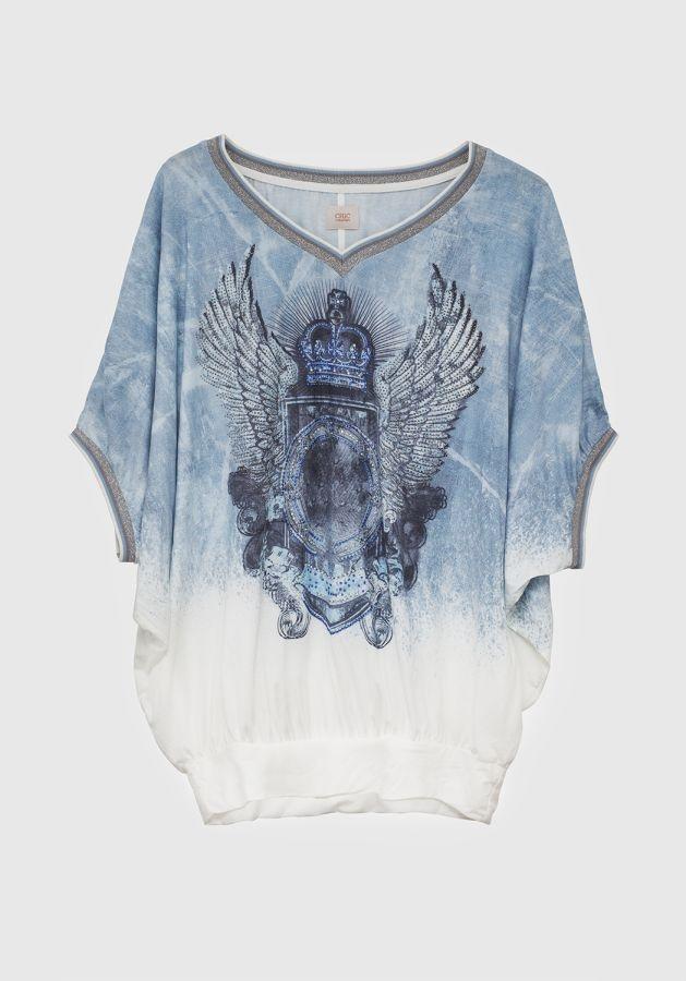 Camiseta Alas Azul