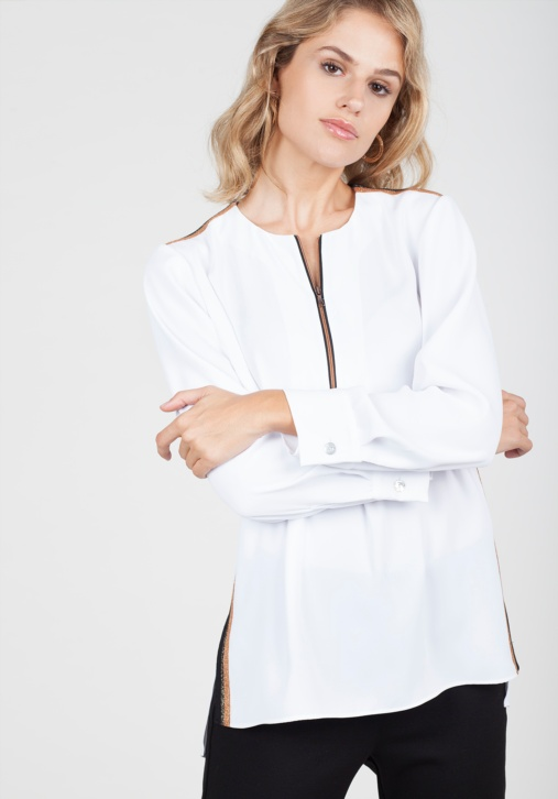 Zip-up Blouse