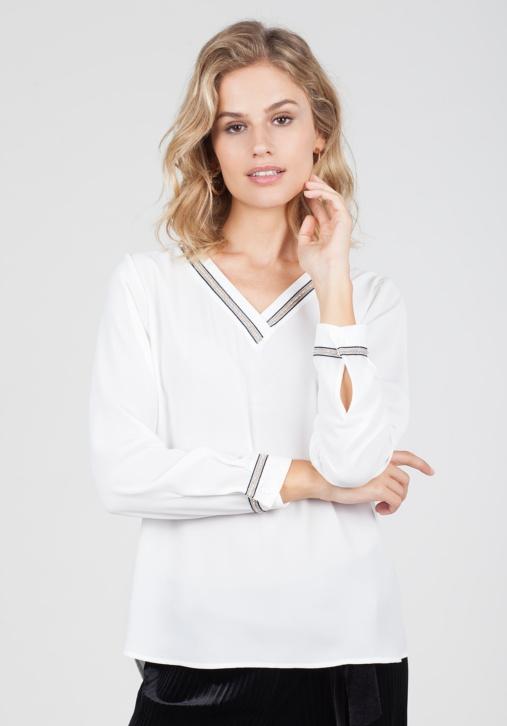 Blusa Blanca Pedrería