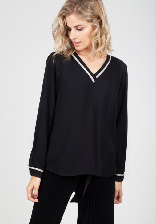 Blusa Negra Pedrería