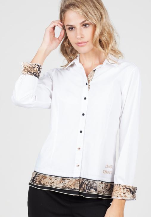 Camisa Blanca Animal Print