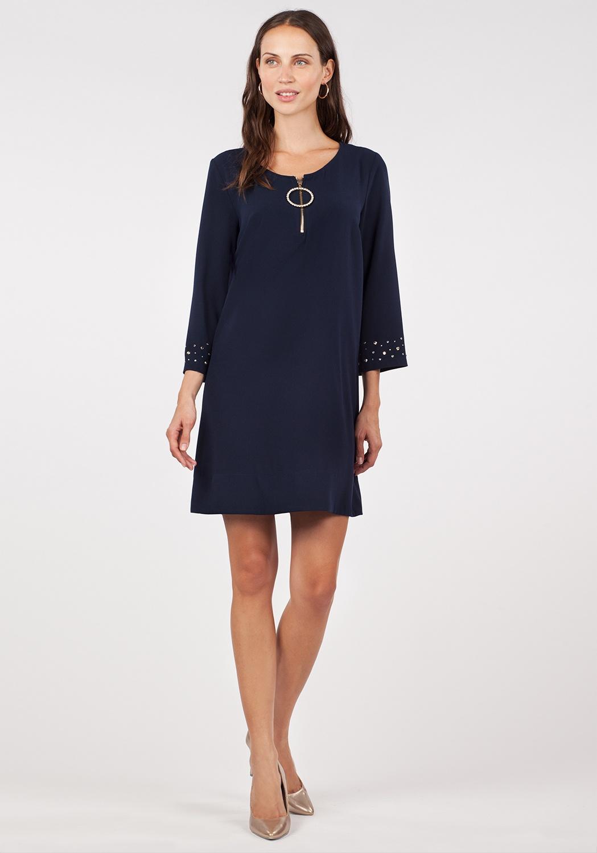 Vestido azul pedrería