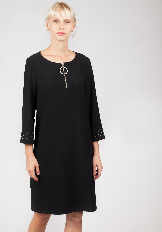Vestido negro pedrería