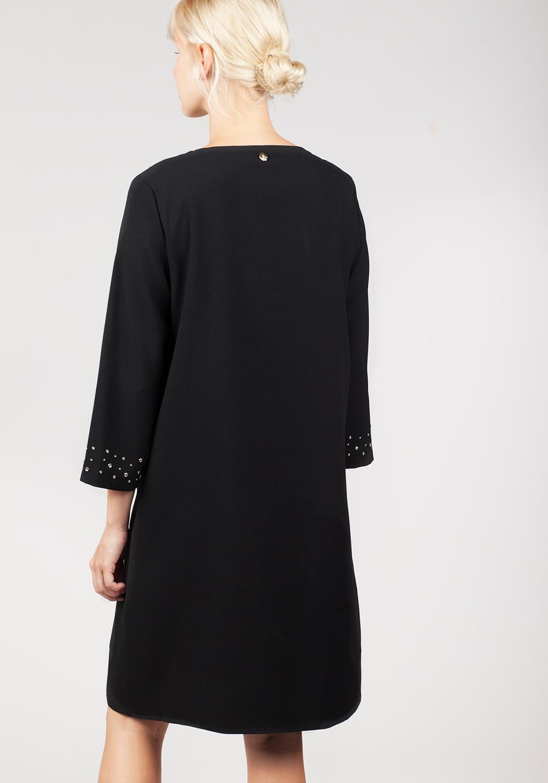 Vestido negro pedrería 2