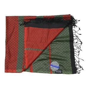 RED GREEN PASHMINA