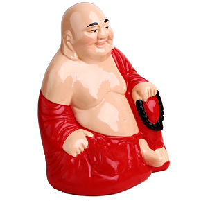 BUDHA PIGGYBANK PROTECTOR (red/yellow)