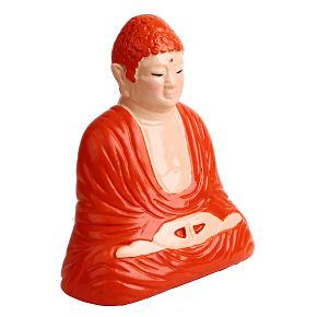 BUDHA PIGGYBANK MEDITATION (orange/pink) - Item1