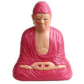 BUDHA PIGGYBANK MEDITATION (orange/pink) - Item3