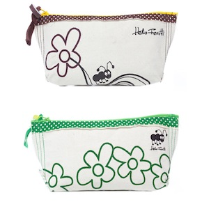 SMALL COTTON TOILET BAG HF