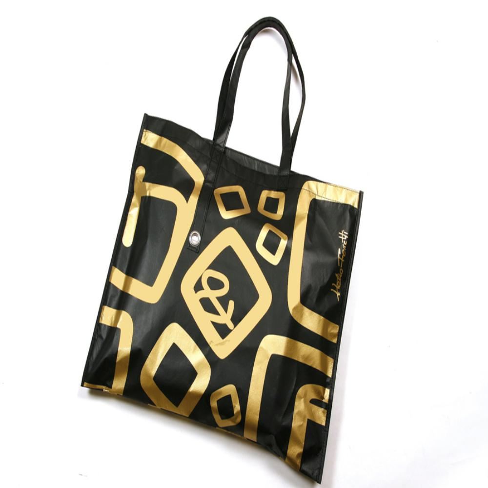 SHOPPING BAG GOLD&BLACK HF