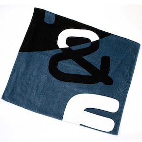TOWEL BLACK BLUE