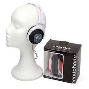 BLACK HEADPHONES URBAN HF
