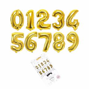 BALLOONS GOLD NUMBERS HF