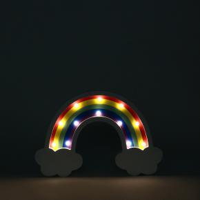 FIGURA LED MADERA CACTUS + ARCOIRIS HF - Ítem5