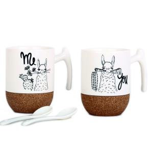 2 MUGS SET LLAMA TEA HF - Item