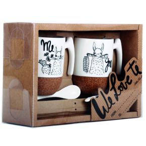 2 MUGS SET LLAMA TEA HF - Item1