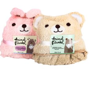 CHILDREN'S BLANKET TEDDY & BUNNY HF