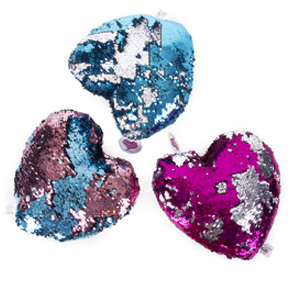 SEQUIN CUSHION HEART HF