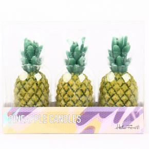 CANDLE SET PINEAPPLE HF