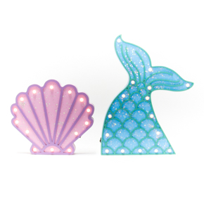 WOODEN LED FIGURES MERMAID+SHELL HF