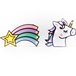 WOODEN LED FIGURES UNICORN+STAR HF