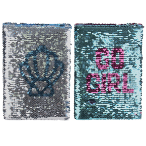 SEQUIN NOTEBOOK SHELL/GO GIRL HF