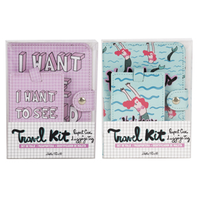 SET PASSPOR.+IDENTI. TRAVEL MERMAID/PINK HF