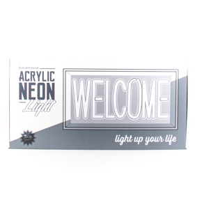 ACRYLIC NEON BOX WELCOME LCM - Item1